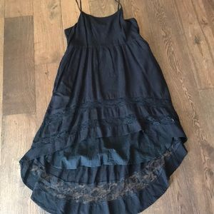 Tank strap high low dress with pockets!